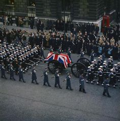 'The speed with which an event becomes old news has deprived us of the time to process experiences, both public and private.' picture: The state funeral of Sir Winston Churchill KG, London, 30 Jan 1965 Winston Churchill, British History, American History, London History, Funeral, Monuments, 1960s Britain, Historical Pictures, Military History