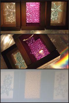 Via @playing_in_k overhead projector play & DIY window blocks.