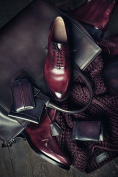 Oxblood is the color of the season. By Berluti