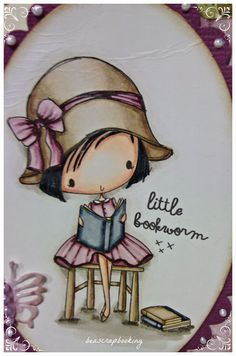Little Darlings, Book Worms, Projects To Try, Girly, Clip Art, Stamp, Scrapbook, Watercolor, My Favorite Things