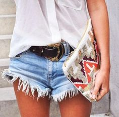 Turn Goodwill jeans into boyfriend shorts