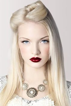 Red Playboy lips with blondes