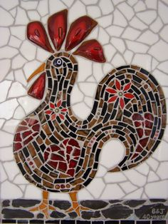 I love the subtle shapes within the rooster, and the different shaped pieces of glass used