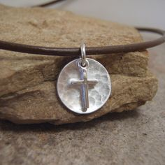 Boy's First Communion necklace  Small cross by filigreepheasant, $26.00