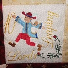 12 Days of Christmas Wallhanging - 5x7 | Christmas | Machine Embroidery Designs | SWAKembroidery.com SewAZ Embroidery Designs
