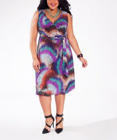 Another great find on #zulily! Amethyst Spark Lindsey Dress - Plus #zulilyfinds