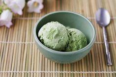Matcha ice cream.green tea ice cream.Japan