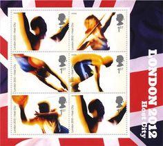 Timbres officiels britanniques - série août 2012 - Jeux Olympiques © DR.