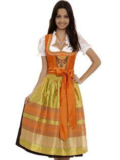 Dirndl Xenia (orange/gelb)