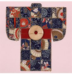 Paper quilted Kimono pattern from McCalls. Would make a lovely card.