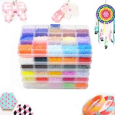 Mini Hama Fuse/Perler/Hama Beads 84 Colors Available Box Set DIY Educational Toys (Pegboard+Iron Paper+Tweezers) Diy Educational Toys, Shipping Packaging, Hama Beads, Color Mixing, Coin Purse, Happy Birthday, Puzzles, Free Shipping, Iron