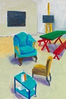 David Hockney Studio Interior #1, 2014 Acrylic on canvas 72 x 48 in. (182.9 x 121.9 cm) Private collection