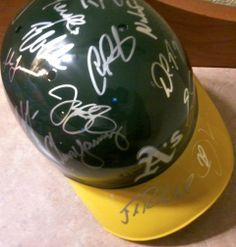 Oakland Athletics 2013 Team Autographed Batting Helmet