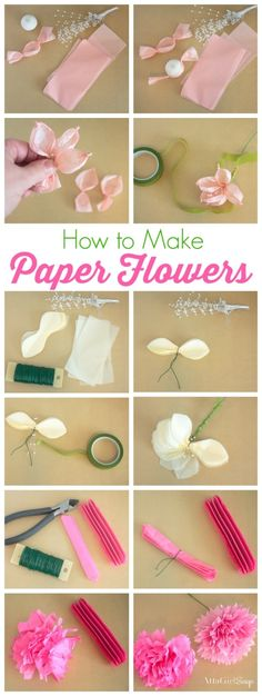 How to make tissue paper flowers four ways blissful domestic how to make tissue paper flowers four ways blissful domestic crafty pins pinterest tissue paper wedding centerpieces and centerpieces mightylinksfo