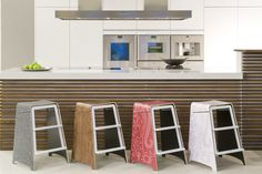 """Matilda is a foldable kitchen stool cum ladder created by Finnish designer Stefan Lindfors. In designer's words, """"The kitchen is the soul of our home, and"""