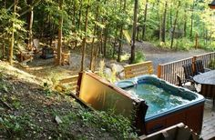 This looks fun! This Timber Block home owner has an awesome back yard! And hot tub? Nice touch!