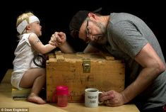 Me and my girl: Father's adorable photos catalogue daring exploits with his toddler daughter (with a little help from Photoshop) | Mail Online