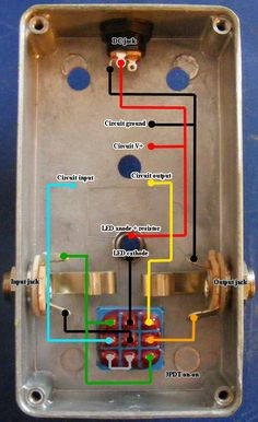 Diagram bypass pedal wiring Guitar Pedals & Effects