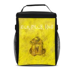 Power lunch in this powerful Solar Plexus Design insulated lunch bag.