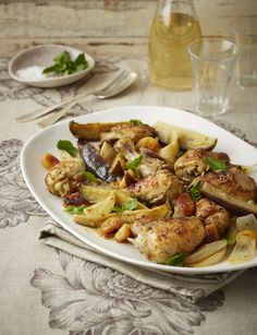 Lemons and oranges work so well with cumin and when roasted with chicken, onions, brinjal and juicy Turkish apricots makes for a flavourful famil meal. Photo by Neville Lockhart