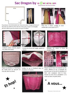 Tuto sac cabas gratuit simili dragon dimensions Vanessa Bruno Plus Vanessa Bruno, Coin Couture, Couture Sewing, Diy Bags Purses, Creation Couture, Blog Couture, Patchwork Bags, Fabric Bags, Sewing Hacks