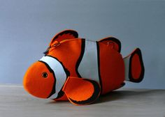 Clown Fish Purse Fish Felt Bag by krukrustudio on Etsy, $140.00