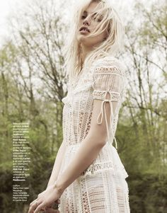 """In the Distant Forest"" Becca Horn for Grazia France June 2015"
