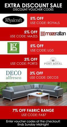 Garden Furniture Vouchers Discount Voucher | Discount Voucher | Pinterest