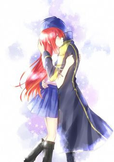 Erza Scarlet and Jellal Fernandes (Jerza) from Fairy Tail Fairytail, Nalu, Zeref Y Mavis, Erza Y Jellal, Gajeel Et Levy, Gruvia, Image Fairy Tail, Fairy Tail Love, Fairy Tail Ships