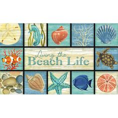 Better Homes and Gardens 18x30 Beach Life Doormat