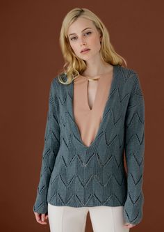 Lana Grossa LEGERER V-PULLI 365 Cashmere - ALL SEASONS 365 No. 3 - Modell 10 | FILATI.cc WebShop