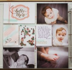 { Conibaers creative desk }: Hello there! Project Life using Stampin'Up! - left page #plxsu