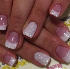 19 gel nails french tip designs stylepics sparkle nail tips toes Gel Nails French, Red Tip Nails, Glitter Gel Nails, Sparkle Nails, Fancy Nails, Pedicure Nails, Toe Nails, Dipped Nails, Colorful Nail Designs