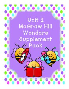 This bundle includes supplementary materials for First Grade Reading Wonders Unit 1. This bundle includes many FUN dittos to help review skills and words for each week! Also includes selection test with answer key! Stories:Week 1- Nat and sam Week 2- Go, Pip!Week 3- FlipWeek 4- FriendsWeek 5- Move It!Each Story includes:*Weekly Newsletter*Spelling Scramble*Spelling Word Search*2 Phonics Worksheets*Color by High Frequency Word Ditto*High Frequency Word Search*Selection TestAlso Includes:Unit…