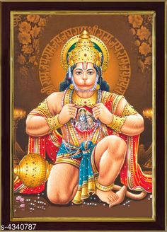Checkout this latest Paintings & Posters Product Name: *SAF Lord Hanuman Ji Sparkle Coated Digital Reprint 13.25 inch x 9.25 inch Painting* Product Length: 25 cm Product Breadth: 35 cm Multipack: 1 Country of Origin: India Easy Returns Available In Case Of Any Issue   Catalog Rating: ★4 (3184)  Catalog Name: Attractive Trendy Wall Posters Vol 14 CatalogID_622837 C127-SC1611 Code: 861-4340787-642