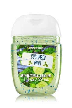 Cucumber Mint - PocketBac Sanitizing Hand Gel - Bath & Body Works - Now with more happy! NEW PocketBac is perfectly shaped for pockets & purses, making it easy to fight germs on-the-go! Plus, our all-new skin softening formula contains powerful germ-killers that keep your hands clean & soft.