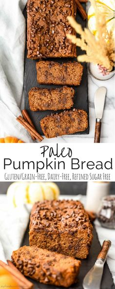 Paleo Pumpkin Bread is a healthier version of everyone's favorite fall quick bread recipe! High in protein, fiber and nutrients but tastes like dessert! The perfect healthy breakfast or snack! Gluten-free, dairy-free & refined sugar free!