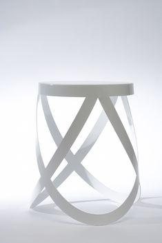 Ribbon Stool for Cappellini by Nendo Italian Designer Metal Vintage Stool White Colorful Furniture, Diy Furniture, Furniture Design, Escalier Art, Art Nouveau, Multipurpose Furniture, Vintage Stool, High Stool, Italian Home