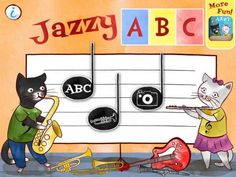 Jazzy ABC - Music Education For Kids by Nickles Nickles Valk Chuah Melody Book NYC - a simple and fun to use app for teaching letters and names of various music instruments. Teaching Letters, Teaching Music, My First Teacher, Microsoft, Music Activities, Music Games, Music Classroom, Classroom Ideas, Music School