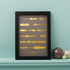 Looking for the perfect gift for him? This Metallic Personalised Favourite Song Sound Wave Print is perfect for the music-obsessed man in your life. As seen at Stylist Live.