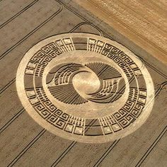 Crop Circle at Silbury Hill, Avebury, Wiltshire, UK - 3 August 2004