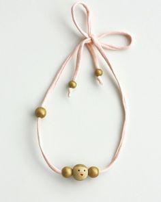 Weiteres - Süße Kinderkette aus Holzperlen - ein Designerstück von bymalini bei DaWanda