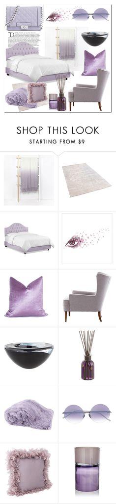 """purple room # Homelava"" by homelava ❤ liked on Polyvore featuring interior, interiors, interior design, home, home decor, interior decorating, Balmain, Kosta Boda, Pier 1 Imports and Liska"