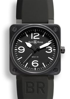 18fbc201b750 Bell   Ross BR 01-92 Carbon Watch. Reloj HoraModaEstiloRelojes Para ...