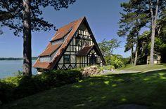 Tudor A-Frame Lake House