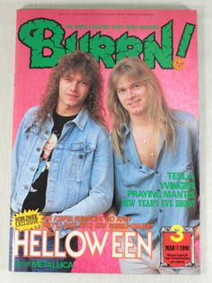 1991/03 BURRN! Japan Rock Magazine HALLOWEEN/TESLA/OVER KILL/WONGER/METALLICA