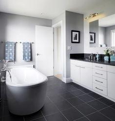 white vanity with black top