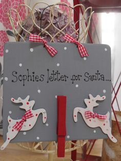Personalised Santa Letter Holder