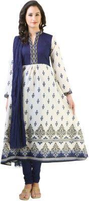 Libas Printed Churidar Suit - Buy Cream, Blue Libas Printed Churidar Suit Online at Best Prices in India | Flipkart.com