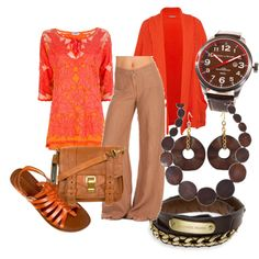 Warm Colours, created by Miia on Polyvore